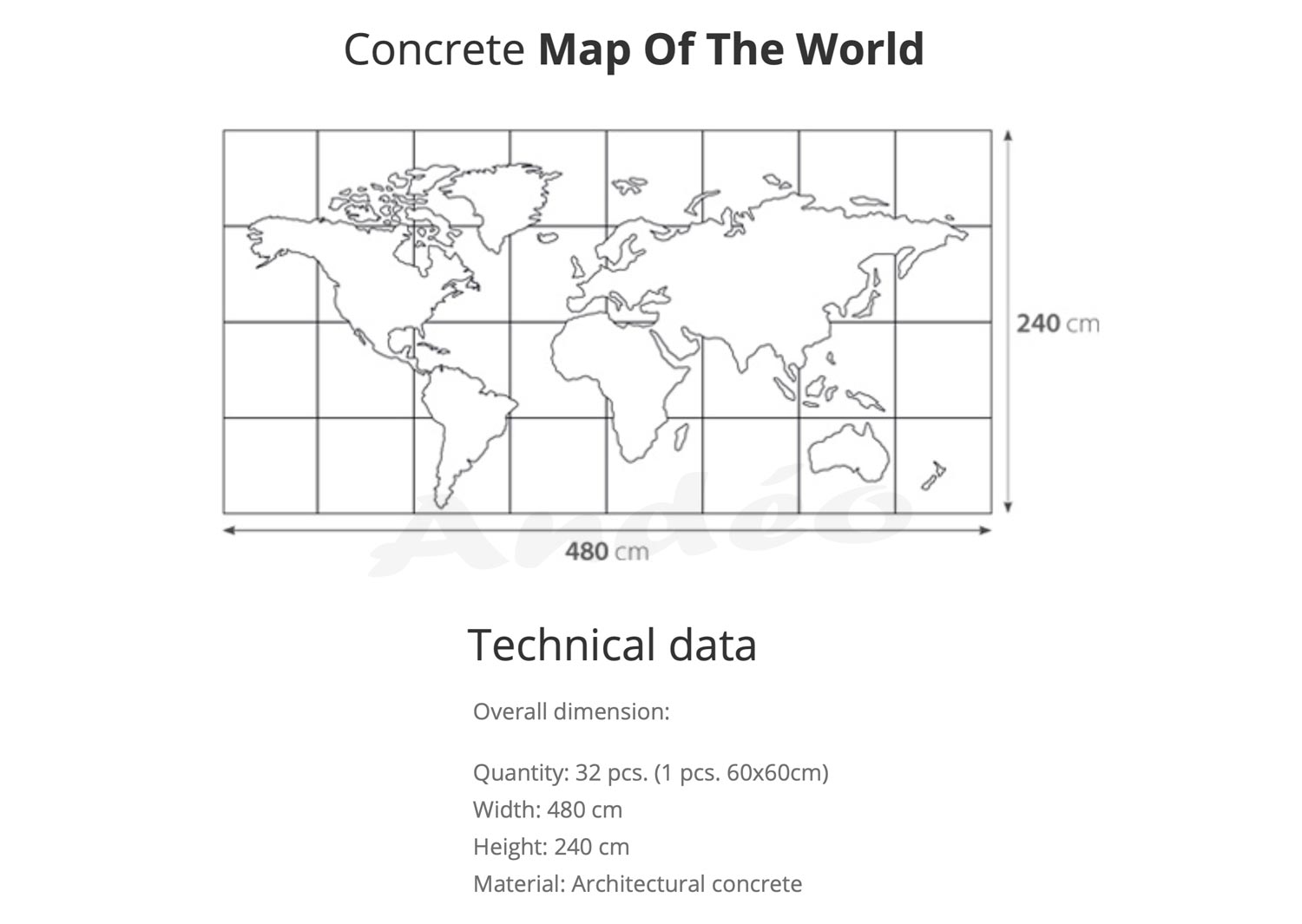 Loft System Concrete Map Of The World