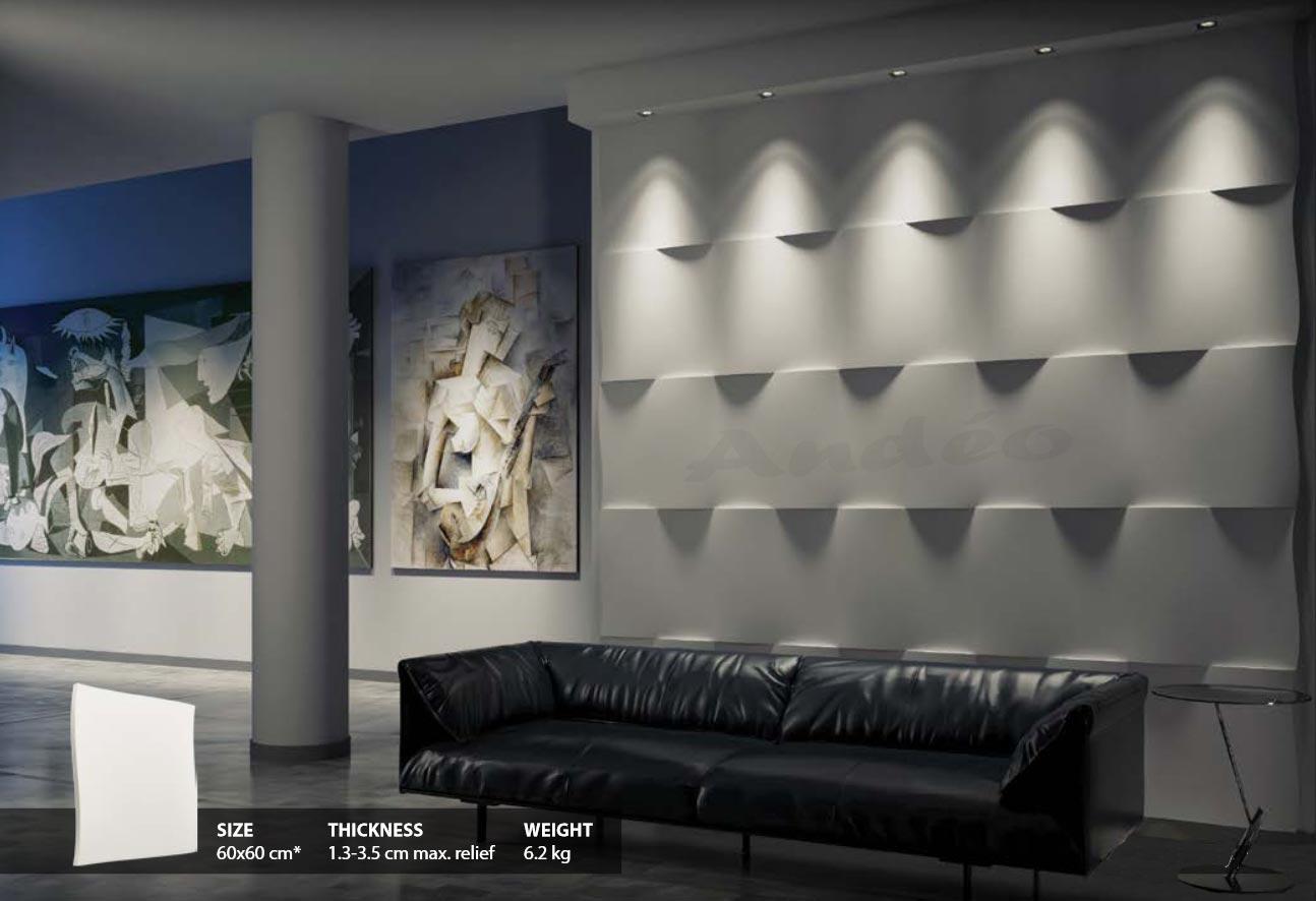 Habillage Mural 3D en plâtre Model 13 Flutter 1
