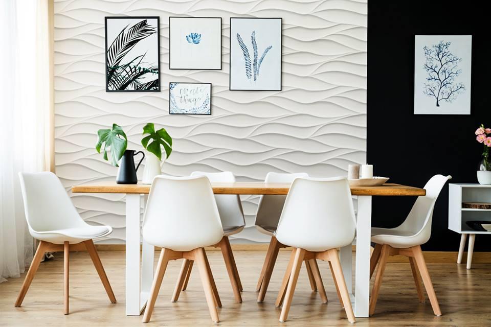 Habillage Mural 3D en plâtre Model 21 Sand Storm 3