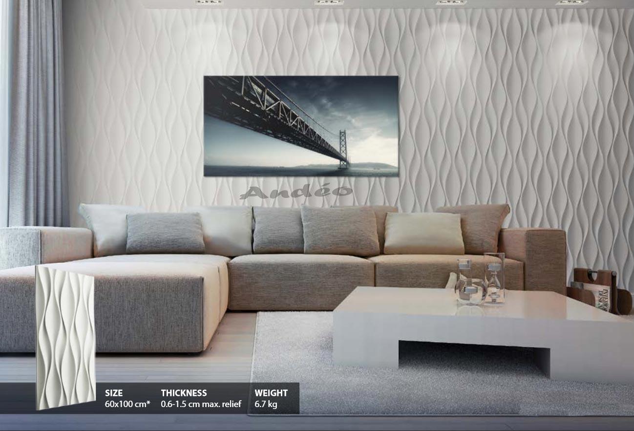 Habillage Mural 3D en plâtre Model 24 Flow 1
