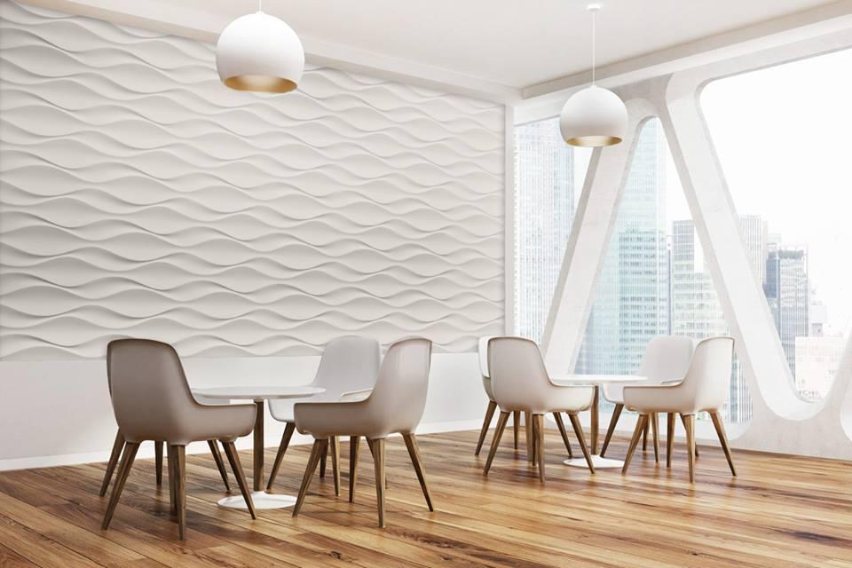 Habillage Mural 3D en plâtre Model 24 Flow 2