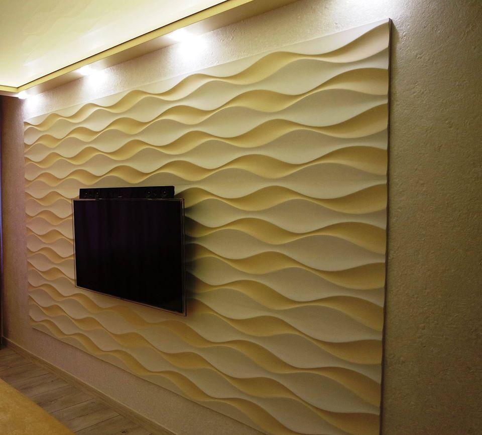 Habillage Mural 3D en plâtre Model 24 Flow 5