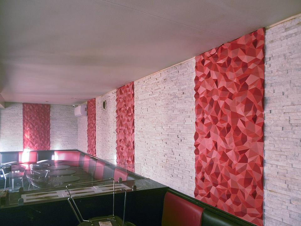 Habillage Mural 3D en plâtre Model 31 Peaks 3