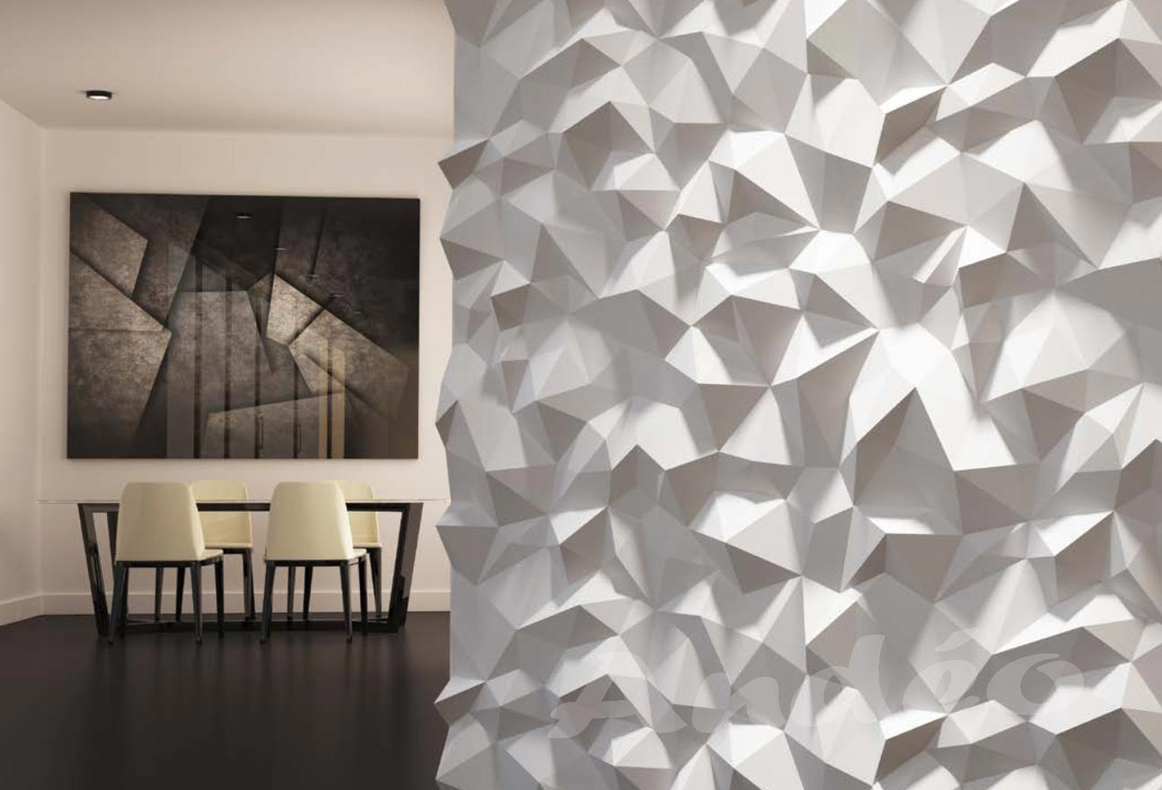 Habillage Mural 3D en plâtre Model 31 Peaks 5